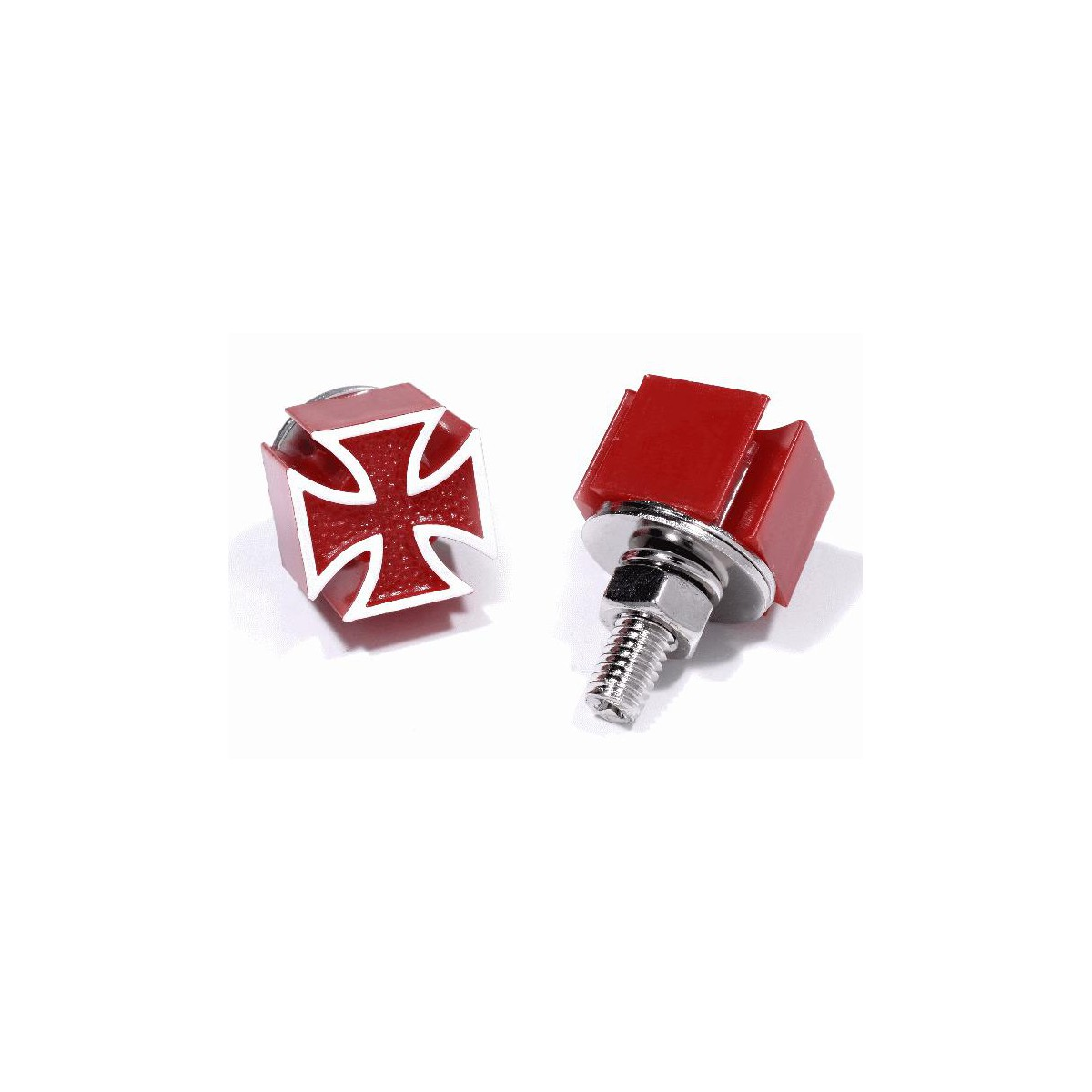 Kennzeichen Schrauben Eisernes Kreuz rot