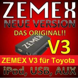 ZEMEX V3 ipod/iphone Adapter für Toyota + Bluetooth + USB Anschluss