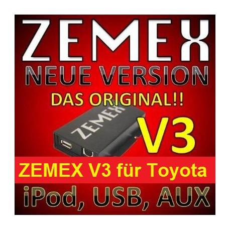 ZEMEX V3 ipod/iphone Adapter für Toyota + Bluetooth + USB Anschluss