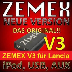 ZEMEX V3 ipod/iphone Adapter für Lancia + Bluetooth + USB Anschluss