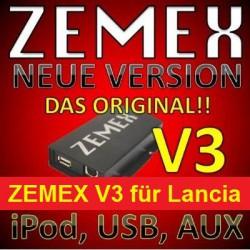 ZEMEX V3 ipod/iphone Adapter für Lancia + Bluetooth + USB Anschluss