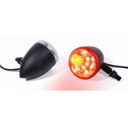 Blinker Rücklicht LED Bullet schwarz (2 Stück)