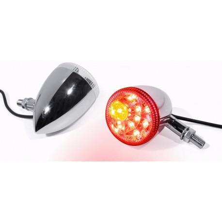 Blinker Rücklicht LED Bullet chrom (2 Stück)