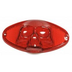 Rücklicht Cateye Ersatzglas mit Totenkopfprägung rot