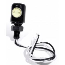 Kennzeichenbeleuchtung LED Alu Mini 6mm Schraube kurz schwarz