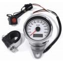 Mini Tachometer elektronisch weiss 60 mm