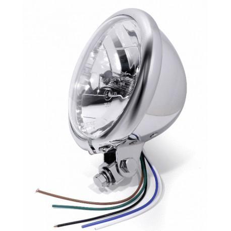 5 3/4 Inch Headlight Bates Style chrom