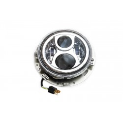 7 Inch LED Headlight with bracket and ring  f. H-D Touring Models E-Mark