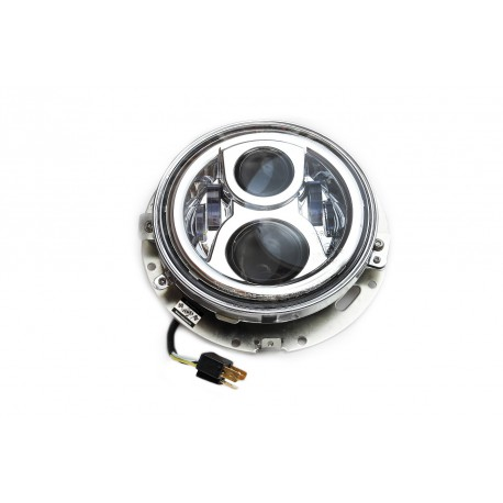 7 Inch LED Headlight with bracket and ring  f. H-D Touring Modelle