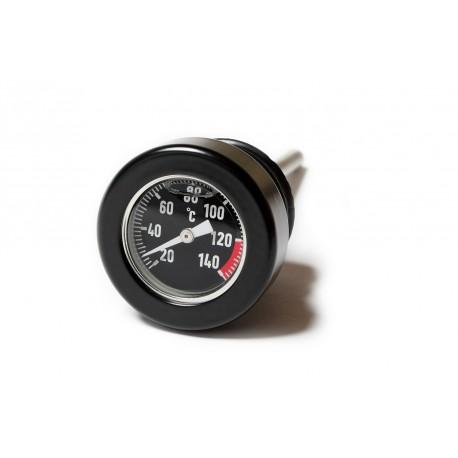 Oildipstick Temperature Gauge - for H-D 1999up  black / black