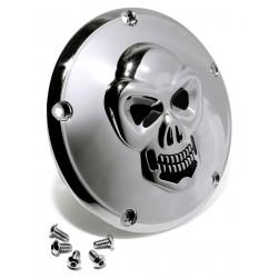 Kupplungsdeckel Totenkopf chrom - Harley Twin Cam