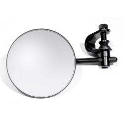 Spiegel rund schwarz m. Lenkerklemme Motorrad Zubehör