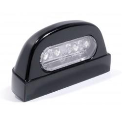 Kennzeichenbeleuchtung Alu schwarz Round harley Zubehör