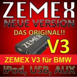 ZEMEX V3 ipod/iphone Adapter für BMW + Bluetooth + USB Anschluss