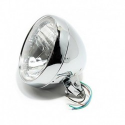 "6,5"" Headlight, clear lens"