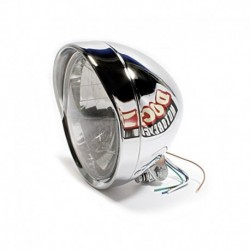 "6,5"" Headlight, clear with Visor"