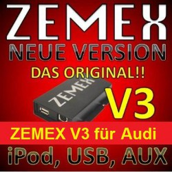 ZEMEX V3 ipod/iphone Adapter für Audi mit Bluetooth und USB