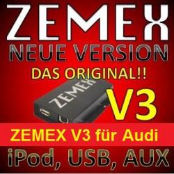 ZEMEX V3 ipod/iphone Adapter für Audi mit Bluetooth und USB