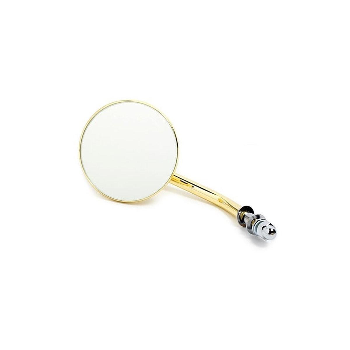 custom spiegel 3 zoll 7 5cm rund 3 gold finish f harley zemex autoelektronik. Black Bedroom Furniture Sets. Home Design Ideas