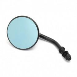 "Custom Mirror round 3"" black, blue-green glass"