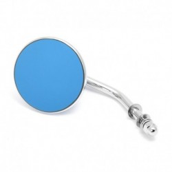 "Custom Mirror round 3"" chrome, blue glass"