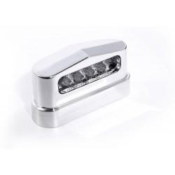 Kennzeichenbeleuchtung LED ABS Prisma Chrom