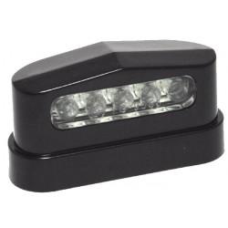 Kennzeichenbeleuchtung LED ABS Prisma Schwarz