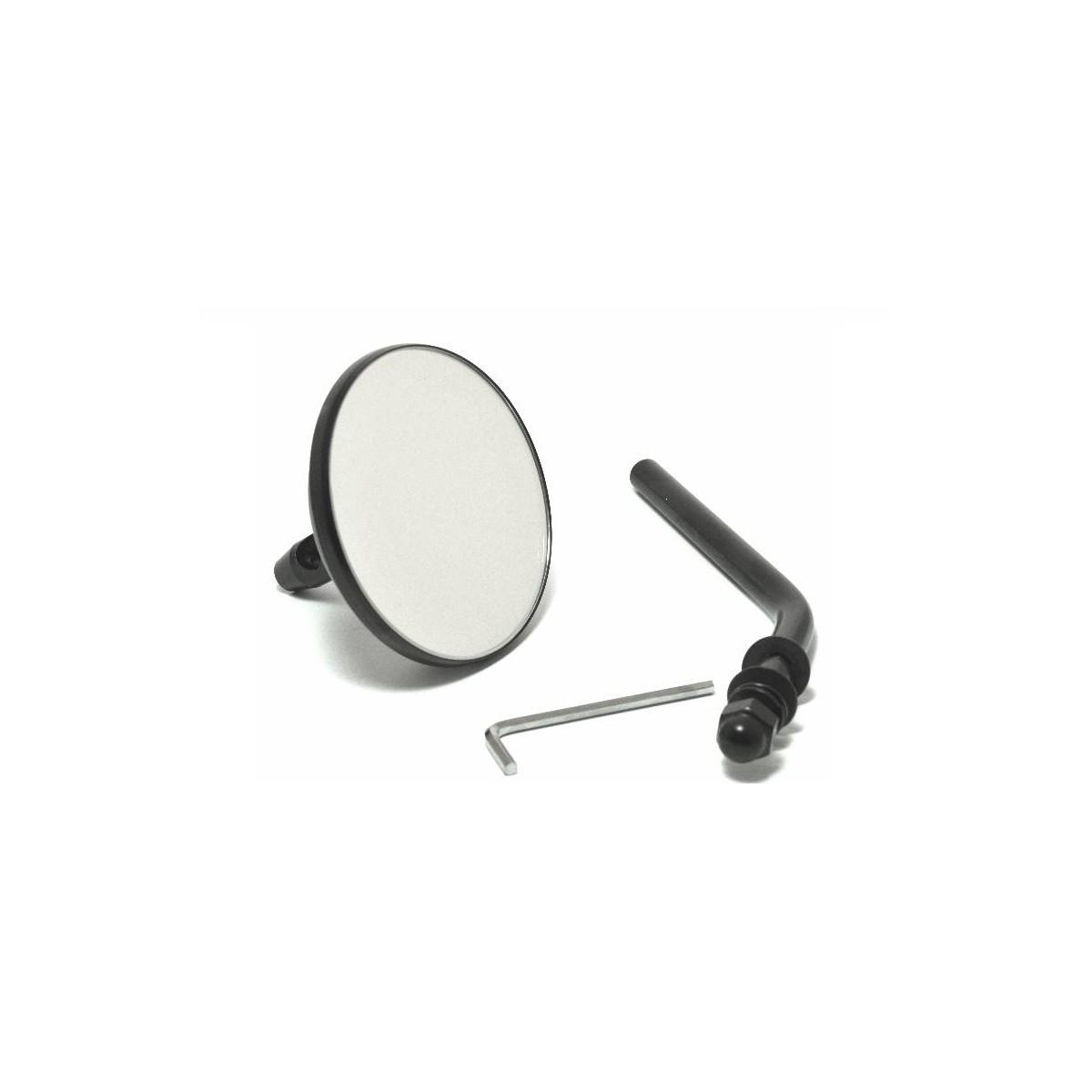 spiegel rund schwarz f r harley davidson bobber chopper. Black Bedroom Furniture Sets. Home Design Ideas