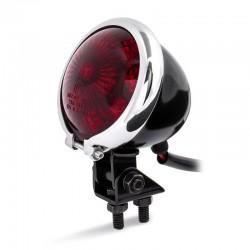 LED Rücklicht Bates / black / chrom / red