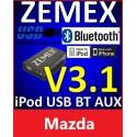 ZEMEX V3.1 ipod/iphone Adapter für Mazda mit Bluetooth und USB Anschluss