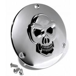 Kupplungsdeckel Totenkopf chrom - Harley Evo Shovel