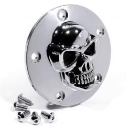 Zündungsdeckel Harley ab 99 3D Totenkopf chrom