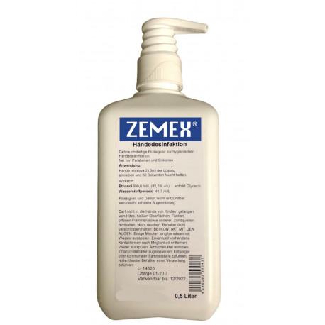ZEMEX® Hände Desinfektionsmittel WHO EN1500 500ml Dosierpumpe