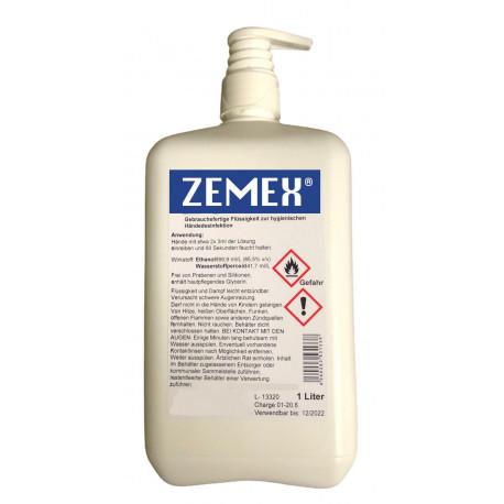 ZEMEX® Hände Desinfektionsmittel WHO EN1500 1000ml Dosierpumpe
