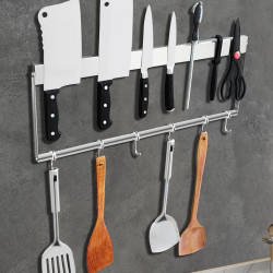 ZEMEX®  Magnetleiste Messer Werkzeug Halter Utensilien  Edelstahl 40cm