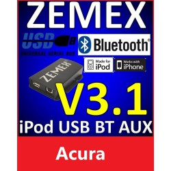 ZEMEX V3.1 ipod/iphone Adapter für Acura + Bluetooth + USB Anschluss