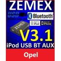 ZEMEX V3.1 ipod/iphone Adapter für Opel + Bluetooth + USB Anschluss
