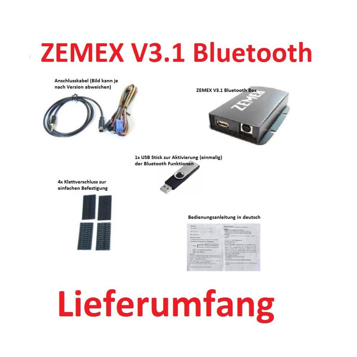 Zemex V3 1 Bluetooth F 252 R Opel Zxv3su1