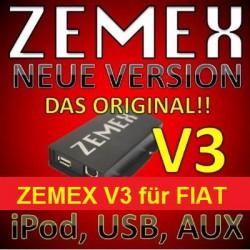 ZEMEX V3 ipod/iphone Adapter für Fiat mit Bluetooth und USB Anschluss