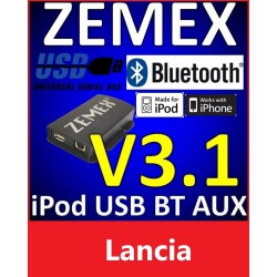 ZEMEX V3.1 ipod/iphone Adapter für Lancia + Bluetooth + USB Anschluss