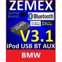 ZEMEX V3.1 ipod/iphone Adapter für BMW + Bluetooth + USB Anschluss