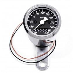 Mini Tachometer 2:1 schwarz chrom 48 mm