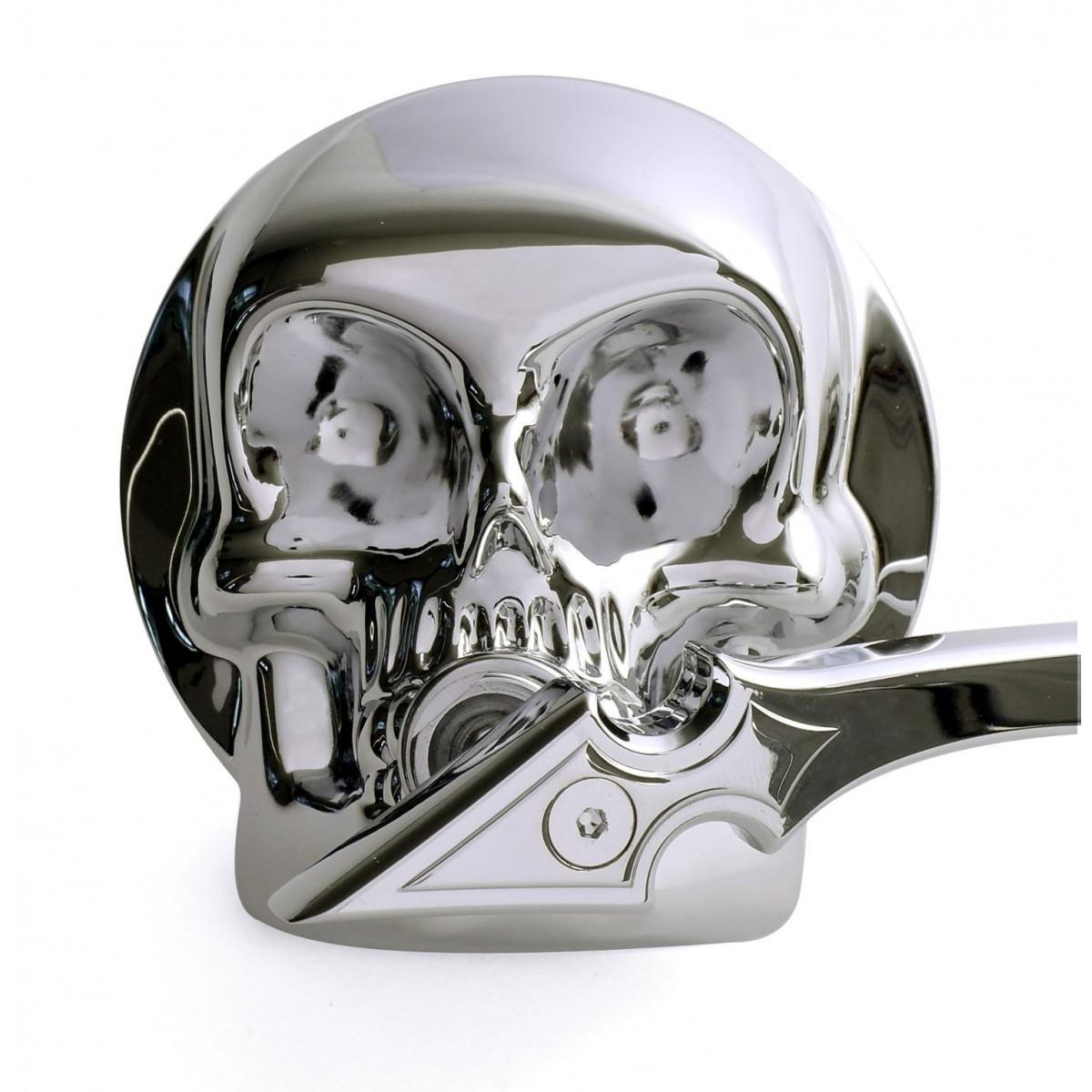 Spiegel Set 3d Skull Chrom Harley Davidson Yamaha Suzuki Bmw Kawasaki