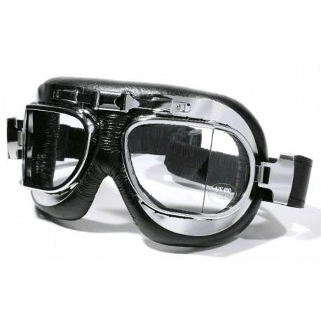 motorrad brille fliegerlook chrom f r jethelm und. Black Bedroom Furniture Sets. Home Design Ideas