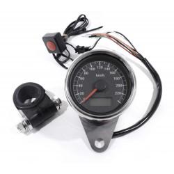 Mini Tachometer elektronisch schwarz 60 mm