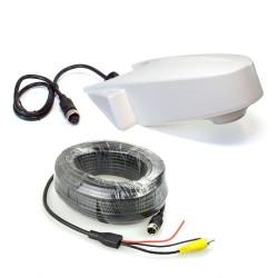 ZEMEX Universal Rückfahrkamera weiss für Transporter m. 15 M Kabelsatz