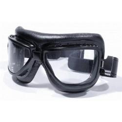 Motorrad Brille Fliegerlook schwarz