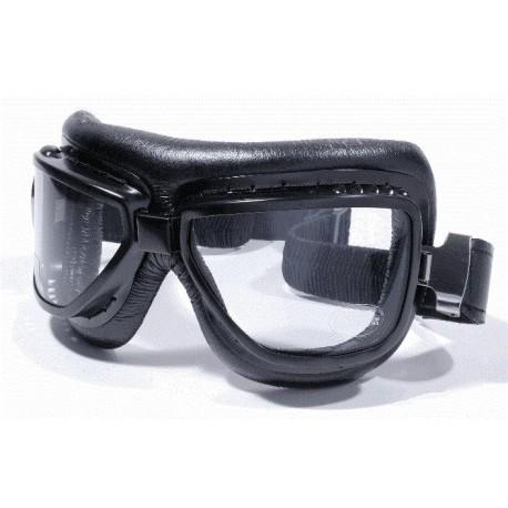 motorrad brille fliegerlook schwarz f r jethelm und. Black Bedroom Furniture Sets. Home Design Ideas