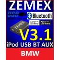 ZEMEX V3.1 ipod/iphone Adapter für BMW + Bluetooth + USB Anschluss