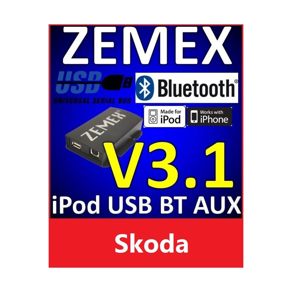 Zemex V3 1 Bluetooth F 252 R Skoda Zxv3vw12